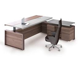 l shaped office desks. Simple Shaped Leather And Veneer Executive Desk ALTAGAMMA  Lshaped Office By ESTEL  GROUP Intended L Shaped Office Desks E