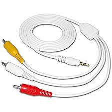 com amzer mm to rca video and audio out cable cell amzer 3 5mm to rca video and audio out cable