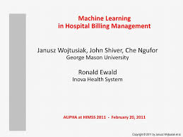 Machine Learning In Hospital Billing Management 1 George