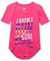 under armour shirts for boys. under armour girls\u0027 run short sleeve t-shirt - kids \u0026 baby macy\u0027s shirts for boys