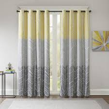 intelligent design kennedy printed lined blackout window curtain free on orders over 45 com 19635256