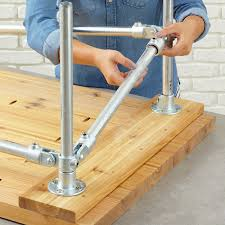 install top end rails on the table legs