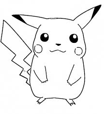 Pikachu Coloring Pages Free Cartoon Coloring Pages Of