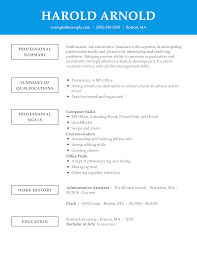 Examples Of Qualifications For Resumes Unforgettable Administrative Assistant Resume Examples To