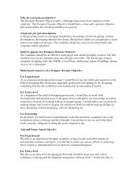 Resume Objective Sample How To Right An For Write When Changing