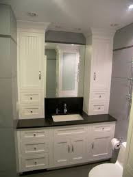 Bathroom Cabinets  Bath Linen Cabinets Cool Features Towel Bathroom Linen Cabinets