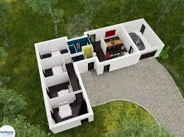 maison en l moderne de plain pied très originale ce modèle ne fait en effet rien me les autres avec son toit plat il offre d emblée un style affirmé