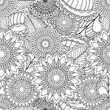 大人の塗り絵のページ手描き下ろし芸術的な民族装飾パターン花フレーム