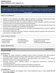 Civil Engineering Resume for Freshers