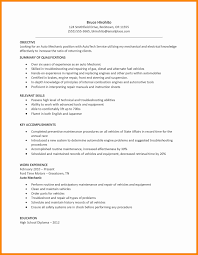 Automotive Repair Sample Resume Download 12 Mechanic Resum Sevte