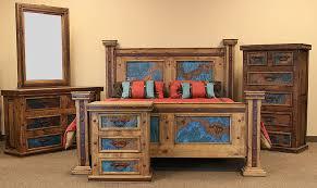 dallas designer furniture. Simple Designer Turquoise Copper Panel Rustic Bedroom Set  With Dallas Designer Furniture D