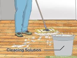 image led clean sticky hardwood floors step 6