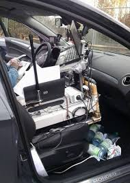 Auto Mobile Office Mobile Office German Police Stop Driver Who Wired His Car
