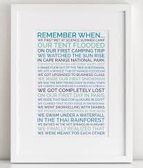 make a personalized remember when poster for your boyfriend