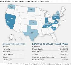 Amazon Pay Chart Amazon To Charge Sales Tax In 8 More States Jul 18 2012