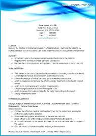 Resume Objective Nursing Mmventures Co