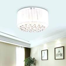 flush mount drum light shade fixture linen st white pendant fashion