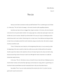 the lie essay the lie essay abby monday