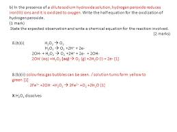 hydrogen peroxide decomposition half equation tessshlo decomposition of h2o2 equation jennarocca