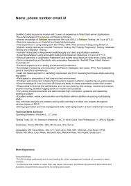 Qa Sample Resume