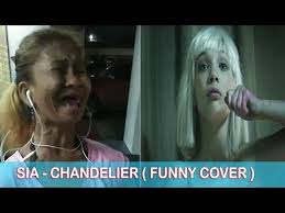 sia chandelier funny cover