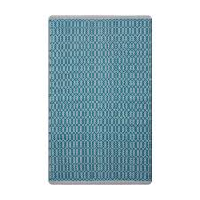 tanya geometric teal white 5 ft x 8 ft area rug