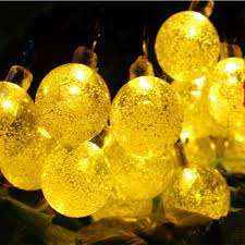 zitrades 20 led crystal ball solar powered outdoor string lights canada zitrades for outside garden pat