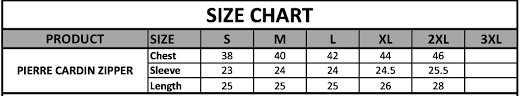 Zipper Size Chart Pierre Cardin Blue Zipper Brands Village