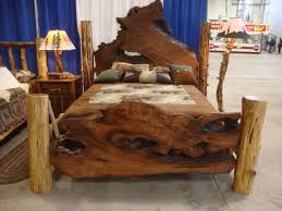 rustic king size bed frame plans