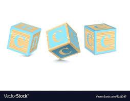 letter c wooden alphabet blocks vector image font free wooden alphabet blocks
