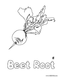 Enjoy Coloring This Beet Root Coloring