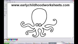 Small Picture How to Draw Cartoons Octopus Easy Step by Step For Kindergarten