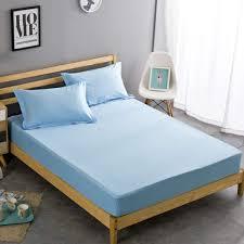 senarai harga 100 cotton mattress cover twin full queen size bed fitted sheet 1 piece solid color bed sheet terbaru di malaysia