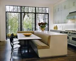 kitchen island with bench seating. Space Savers: Built-In Island Banquette. Kitchen With SeatingKitchen Bench Seating A