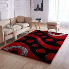 details about fluffy fuzzy gray grey modern 3d gy bedroom living room 5x7 area rug