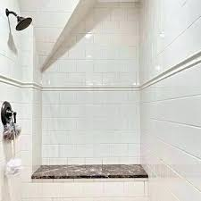 shower stall tile tiled look kits ceramic installation