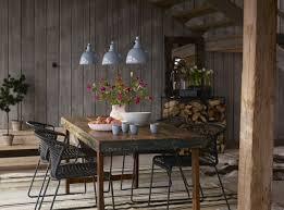 rustic furniture dining room design dining table fl pendant lights