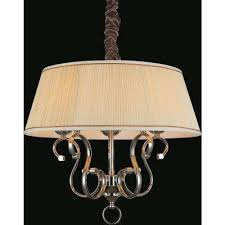 biscuit 5 light chrome chandelier