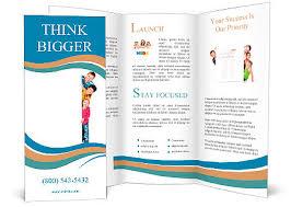 Fun Brochure Templates Beautiful Fun Family Behind A White Blank Brochure Template