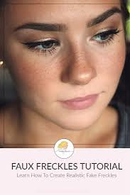 want to learn how to make fake freckles this tutorial teaches you how to get