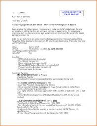 Email Recruiter Sample Helendearest