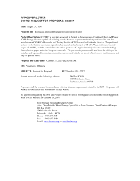 Rfp Cover Letter Example Resume Cover Letter