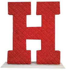 H C Infusion Color Chart Decoration Letter H Red