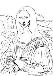 Small Picture Mona Lisa la Gioconda By Leonardo Da Vinci coloring page Free