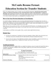 ... Free Examples McCombs Resume Template Best 10 Download Tutorial ...