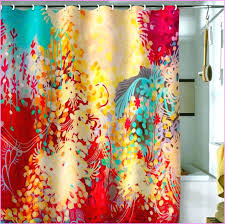 colorful shower curtains. Brilliant Curtains Colorful Shower Curtains Elegant Printed Curtain Draping Ideas 4 Flawless  Peach Colored Fabric   And Colorful Shower Curtains I
