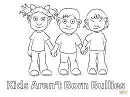 Disegno Di I Ragazzi Non Sono Nati Per Fare I Bulli Da Colorare Con