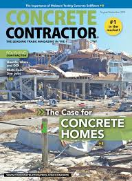 Concrete Contractor August September 2019 For Construction
