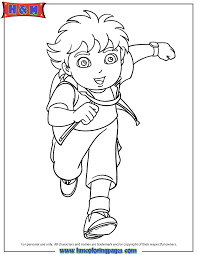 Nickelodeon Diego Cartoon Coloring Page H M Coloring Pages