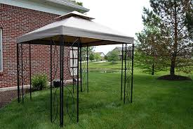 Matte Black Steel Frame Gazebo with High-Grade 300D Polyester Canopy with  Windvent